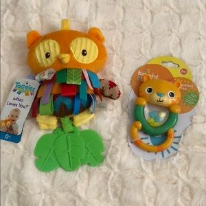 Set of Two baby Rattle toys
